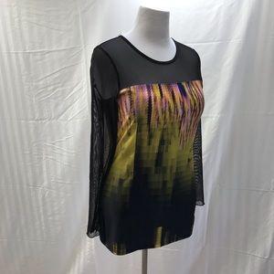 Michael Tyler mesh and print top